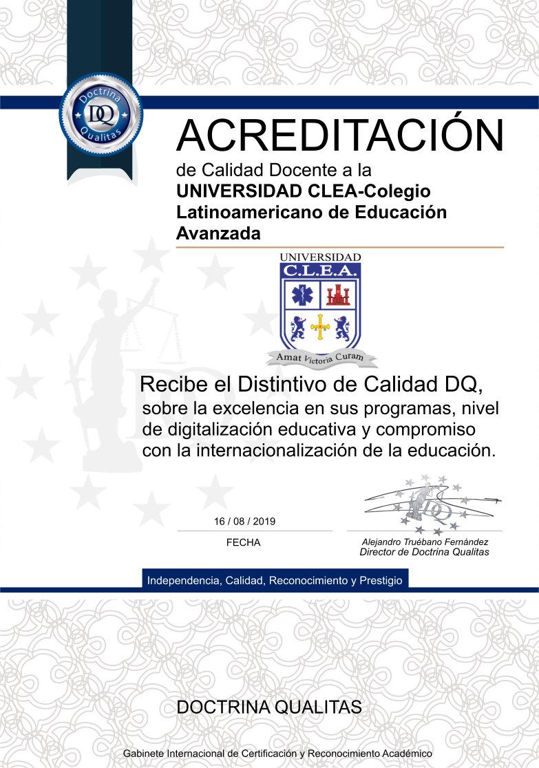Distinción Universidad CLEA